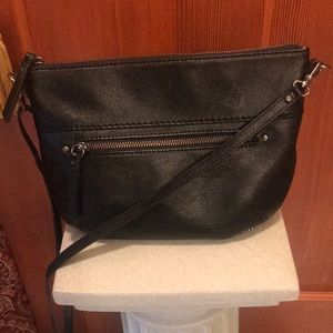The Sak black leather crossbody purse